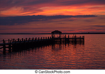 Sunset Over the Pier
