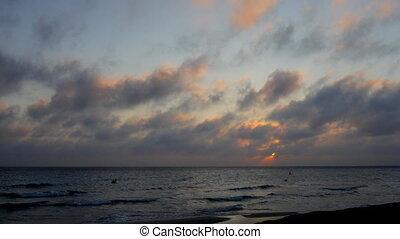 sunset over the sea in menorca