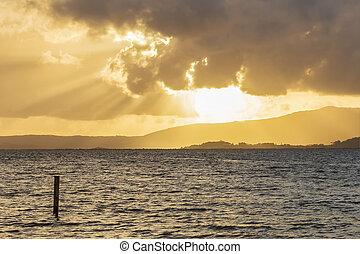 Sunset at Arousa estuary