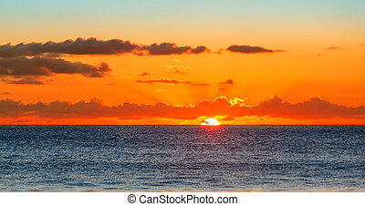 Sunset over the Sea, the Indian Ocean Seychelles