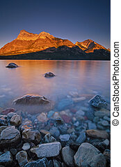 Sunset over Vimy Peak and Bosporus - Waterton Lakes National...