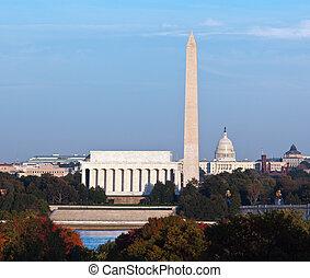 Sunset over Washington DC - Lincoln Memorial, Washington ...
