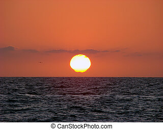 Sunset, Pacific Ocean. - Sunset on the west coast of Mexico.