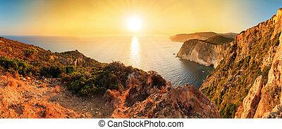 Sunset panorama Cape Keri
