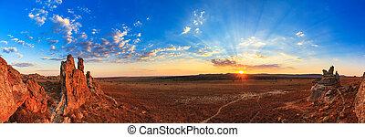 Sunset panorama Isalo