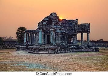 Angkor Wat - sunset photo Angkor Wat - ancient Khmer temple...