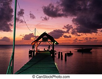 Sunset, Pigeon Point, Tobago.