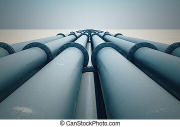 sunset., pipeline