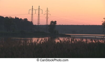 sunset power line 4 - power line sunset