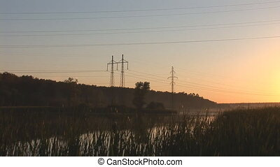 sunset power line 8 - power line sunset