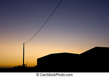 sunset power wires