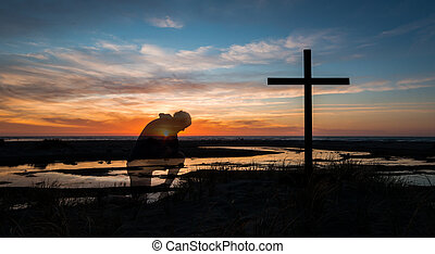 Sunset Prayers By Cross
