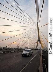 Sunset Rama VIII Bridge Bangkok