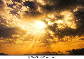 Sunset ray