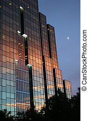 Sunset reflection - Amazing sunset reflection on corporate...