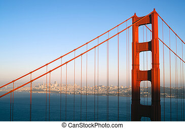 Sunset San Francisco Golden Gate Bridge Pacific Ocean West ...