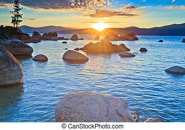 sunset - Sand Harbor, Lake Tahoe