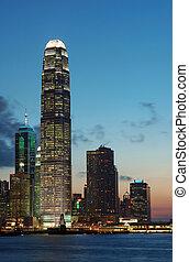 Sunset scene of Hong Kong