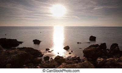 Sunset sea Croatia