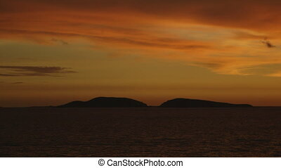 Sunset sea in Papua new guinea - An evening wide angle shot...
