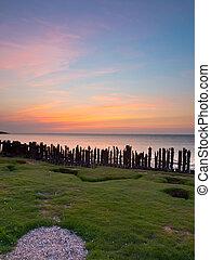 sunset sea portrait