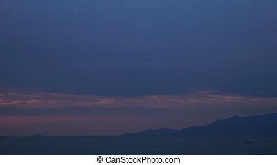 Sunset sea water sun landscape