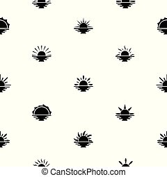 sunset seamless pattern background icon.