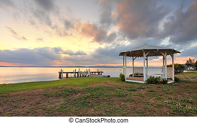Sunset Serenity on Lake Macquarie NSW Australia