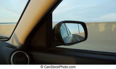 Sunset side mirror.