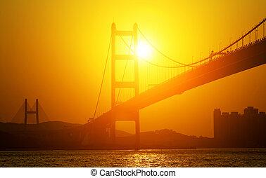 Sunset silhouette Bridge