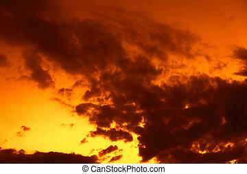 Sunset sky as background