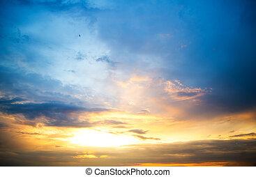 sunset sky clouds.