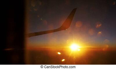 Sunset Sky form the Airplane Window