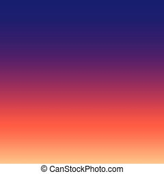 Sunset sky gradient abstract background