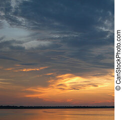 Sunset sky in the Amazon