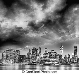 Sunset sky of New York City