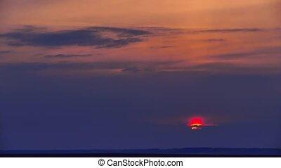 sunset sky orange clouds nature landscape time lapse