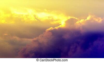 Sunset sky. Timelapse.