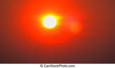 sunset sky, timelapse