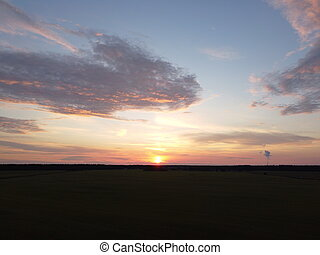 sunset sky with clouds background