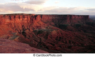 Sunset Soda Springs Basin Green River Canyonlands National Park