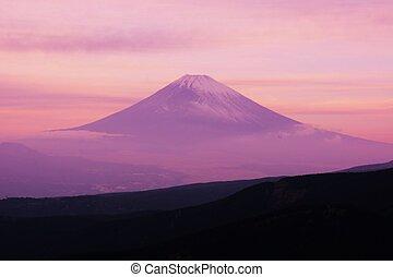Mt.Fuji silhouette