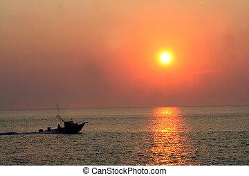 Sunset Speedboat