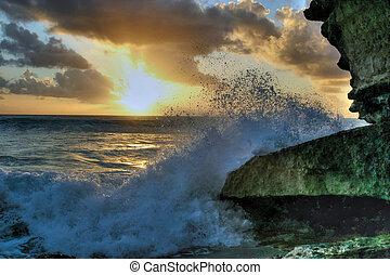 Sunset splash 8 HDR