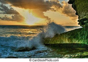Sunset splash 9 HDR