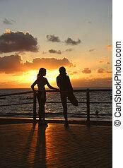 Sunset Stetching