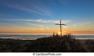 Sunset Stick Cross