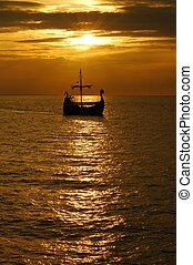 Sunset - Boat at sunset