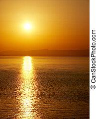 Sunset over portishead
