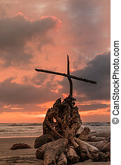 Sunset Storm cross